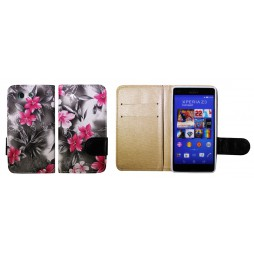 Sony Xperia Z3 Compact/Mini - Preklopna torbica (64) - črna