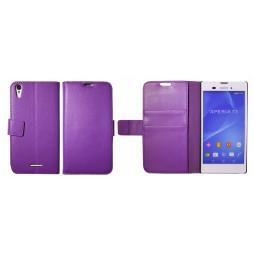 Sony Xperia T3 - Preklopna torbica (WL) - vijolična