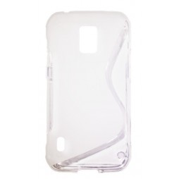 Samsung Galaxy S5 Active - Gumiran ovitek (TPU) - belo-prosojen SLine