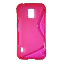 Samsung Galaxy S5 Active - Gumiran ovitek (TPU) - roza-prosojen SLine
