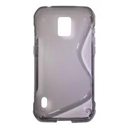 Samsung Galaxy S5 Active - Gumiran ovitek (TPU) - sivo-prosojen SLine