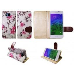 Samsung Galaxy Alpha - Preklopna torbica (64) - bela