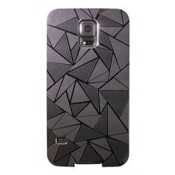 Samsung Galaxy S5/S5 Neo - Okrasni pokrovček (44) - črn