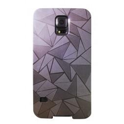 Samsung Galaxy S5/S5 Neo - Okrasni pokrovček (44) - srebrn