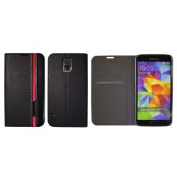 Samsung Galaxy S5/S5 Neo - Preklopna torbica (66) - črna