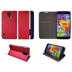 Samsung Galaxy S5/S5 Neo - Preklopna torbica (66) - rdeča