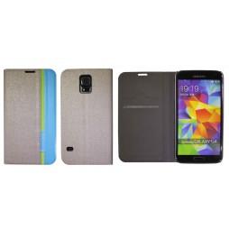 Samsung Galaxy S5/S5 Neo - Preklopna torbica (66) - siva