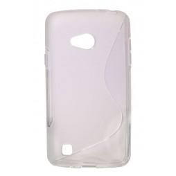 LG L50 - Gumiran ovitek (TPU) - belo-prosojen SLine