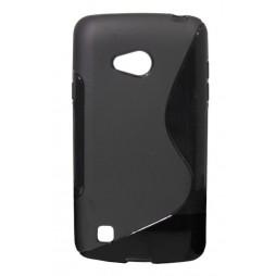 LG L50 - Gumiran ovitek (TPU) - črn SLine