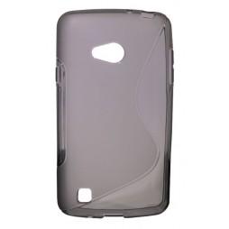 LG L50 - Gumiran ovitek (TPU) - sivo-prosojen SLine