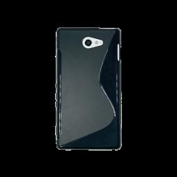 Sony Xperia M2 Aqua - Gumiran ovitek (TPU) - črn SLine