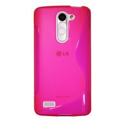LG L Bello - Gumiran ovitek (TPU) - roza-prosojen SLine