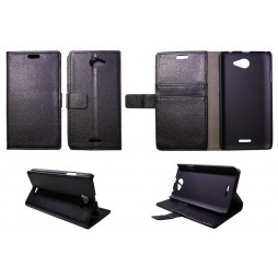 HTC Desire 516 - Preklopna torbica (WL) - črna