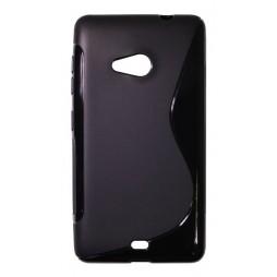 Microsoft Lumia 535 - Gumiran ovitek (TPU) - črn SLine