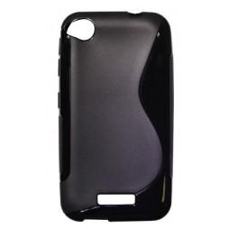 HTC Desire 320 - Gumiran ovitek (TPU) - črn SLine