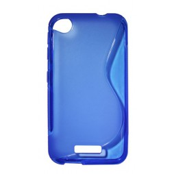 HTC Desire 320 - Gumiran ovitek (TPU) - modro-prosojen SLine