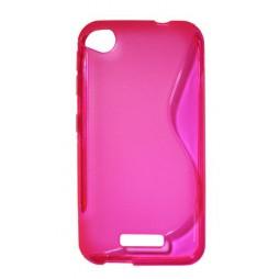 HTC Desire 320 - Gumiran ovitek (TPU) - roza-prosojen SLine
