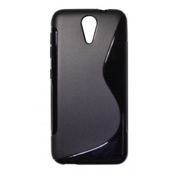 HTC Desire 620 - Gumiran ovitek (TPU) - črn SLine
