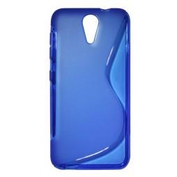 HTC Desire 620 - Gumiran ovitek (TPU) - modro-prosojen SLine