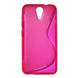 HTC Desire 620 - Gumiran ovitek (TPU) - roza-prosojen SLine