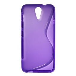 HTC Desire 620 - Gumiran ovitek (TPU) - vijolično-prosojen SLine