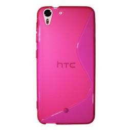 HTC Desire Eye - Gumiran ovitek (TPU) - roza-prosojen SLine