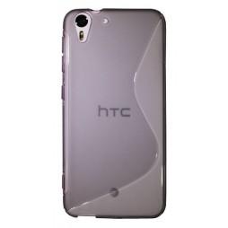 HTC Desire Eye - Gumiran ovitek (TPU) - sivo-prosojen SLine