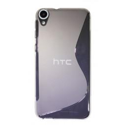 HTC Desire 820 - Gumiran ovitek (TPU) - belo-prosojen SLine