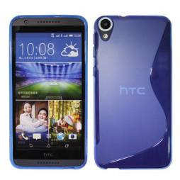 HTC Desire 820 - Gumiran ovitek (TPU) - modro-prosojen SLine