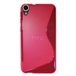 HTC Desire 820 - Gumiran ovitek (TPU) - roza-prosojen SLine