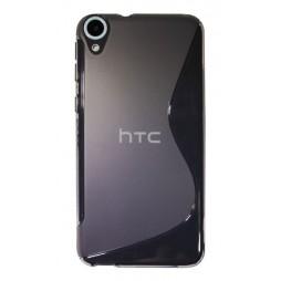 HTC Desire 820 - Gumiran ovitek (TPU) - sivo-prosojen SLine
