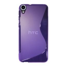 HTC Desire 820 - Gumiran ovitek (TPU) - vijolično-prosojen SLine