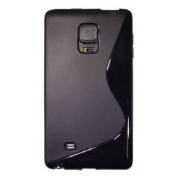 Samsung Galaxy Note Edge - Gumiran ovitek (TPU) - črn SLine