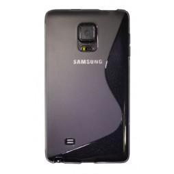 Samsung Galaxy Note Edge - Gumiran ovitek (TPU) - sivo-prosojen SLine
