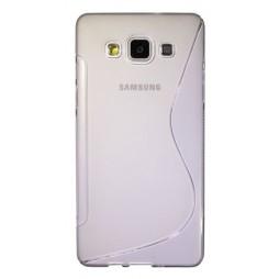 Samsung Galaxy A5 - Gumiran ovitek (TPU) - belo-prosojen SLine