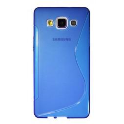 Samsung Galaxy A5 - Gumiran ovitek (TPU) - modro-prosojen SLine