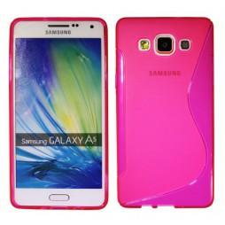 Samsung Galaxy A5 - Gumiran ovitek (TPU) - roza-prosojen SLine