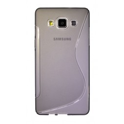 Samsung Galaxy A5 - Gumiran ovitek (TPU) - sivo-prosojen SLine