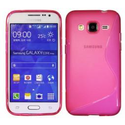 Samsung Galaxy Core Prime - Gumiran ovitek (TPU) - roza-prosojen SLine