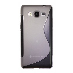 Samsung Galaxy Grand Prime - Gumiran ovitek (TPU) - belo-prosojen SLine