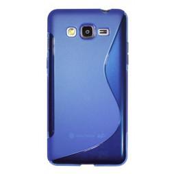 Samsung Galaxy Grand Prime - Gumiran ovitek (TPU) - modro-prosojen SLine