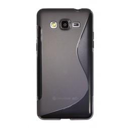 Samsung Galaxy Grand Prime - Gumiran ovitek (TPU) - sivo-prosojen SLine
