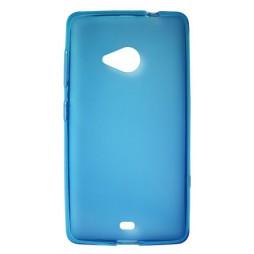Microsoft Lumia 535 - Gumiran ovitek (TPU) - modro-prosojen mat