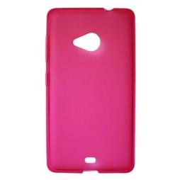 Microsoft Lumia 535 - Gumiran ovitek (TPU) - roza-prosojen mat