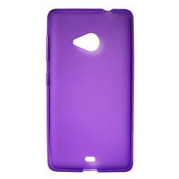 Microsoft Lumia 535 - Gumiran ovitek (TPU) - vijolično-prosojen mat