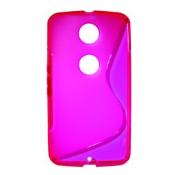 Motorola Nexus 6 - Gumiran ovitek (TPU) - roza-prosojen SLine
