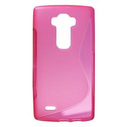 LG G Flex 2 - Gumiran ovitek (TPU) - roza-prosojen SLine