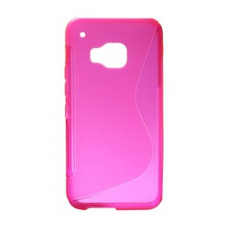 HTC One M9 - Gumiran ovitek (TPU) - roza-prosojen SLine