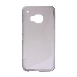 HTC One M9 - Gumiran ovitek (TPU) - sivo-prosojen SLine