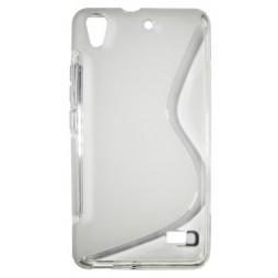 Huawei Ascend G620 - Gumiran ovitek (TPU) - belo-prosojen SLine